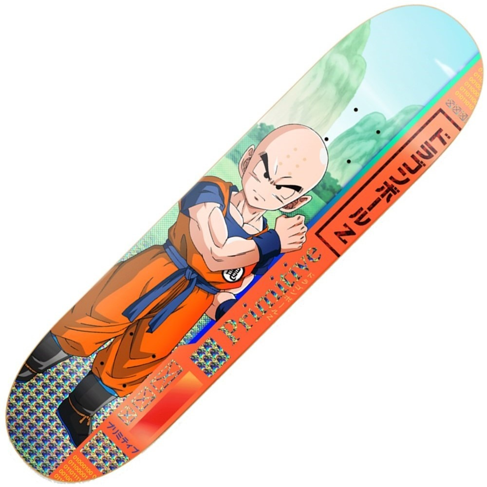 Primitive Dragon Ball Z Krillin Team 8.125inch Skateboard Deck