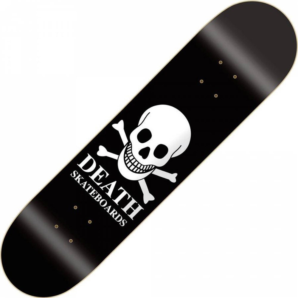 Death OG Skull Black 7.875inch Skateboard Deck