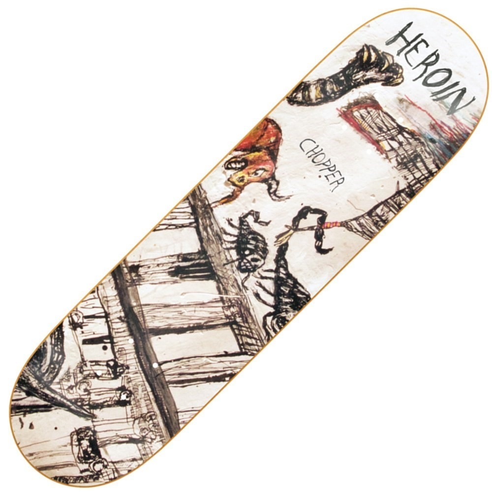 Buy Heroin Chopper Enemy Ritual Skateboard Deck - Decked Out