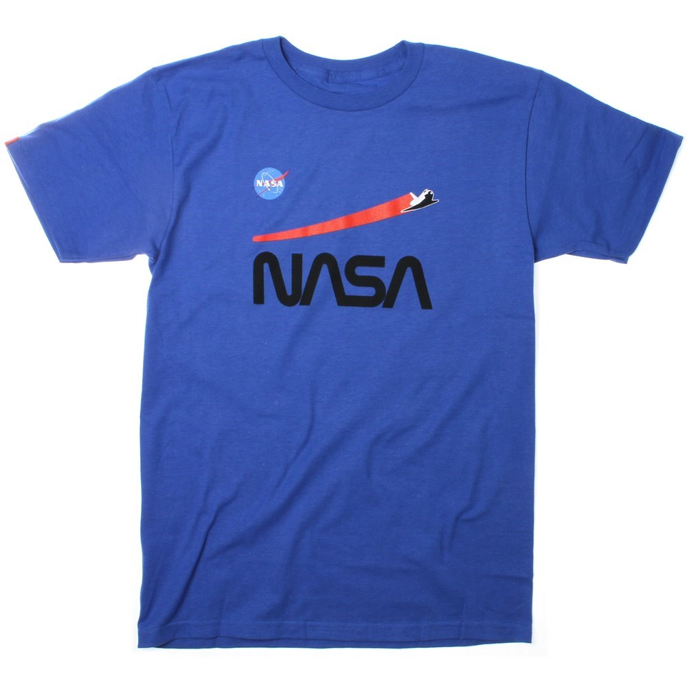 Buy Habitat NASA Shuttle Flight S/S T-Shirt - Royal Blue