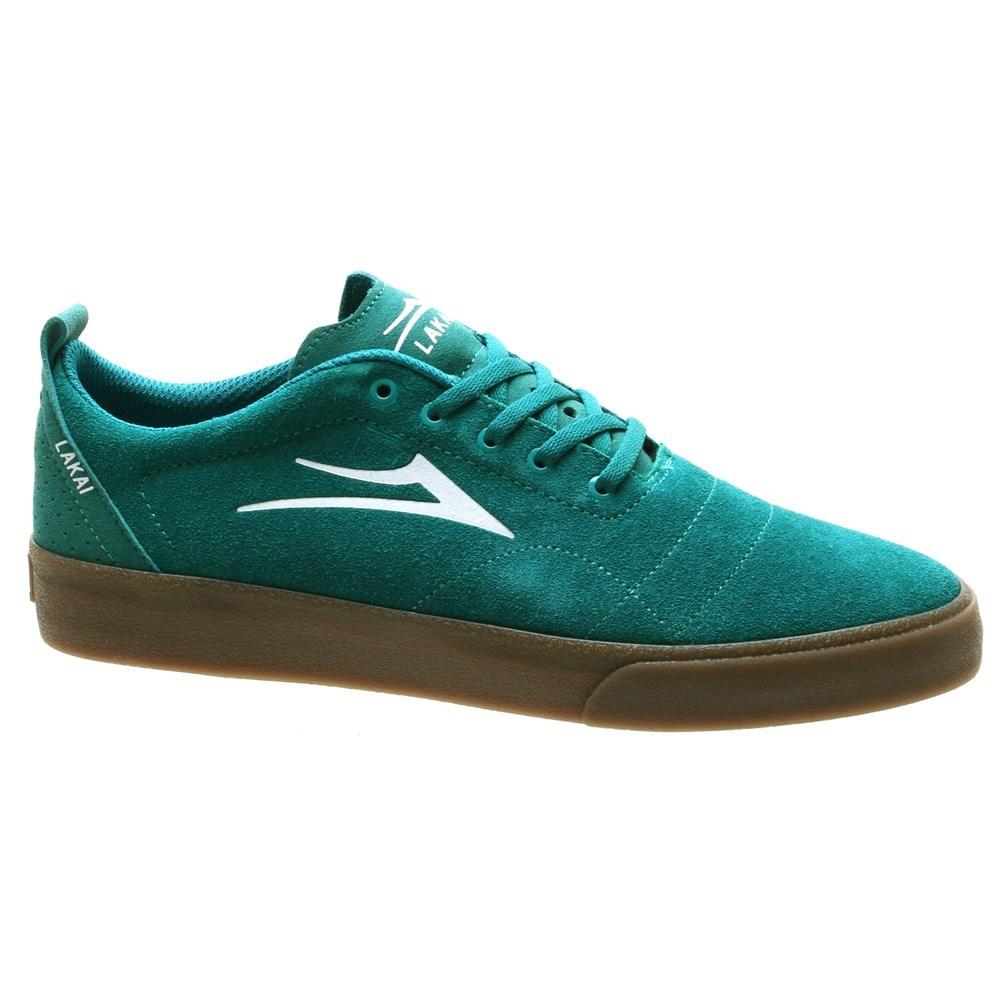Lakai Bristol skate shoe in Jade/Gum